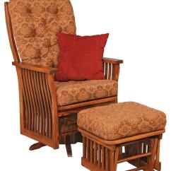 Amish Made Rocking Chair Cushions Short Beach Chairs Jake S Furniture 70 1 Swilvel Glider With Ottoman