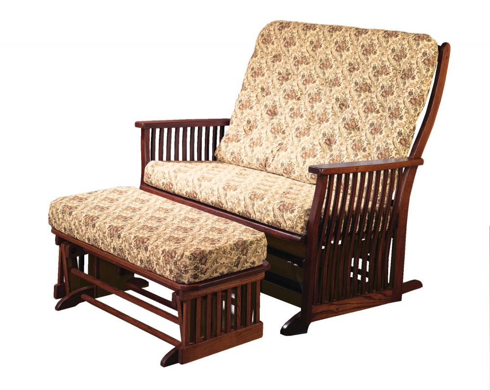 Jakes Amish Furniture 70 5 Love Seat Glider