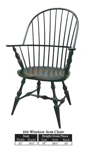Jakes Amish Furniture 850 Windsor Arm Chair