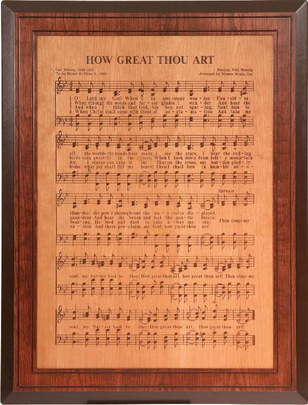 Jakes Amish Furniture  HRA02 How Great Thou Art