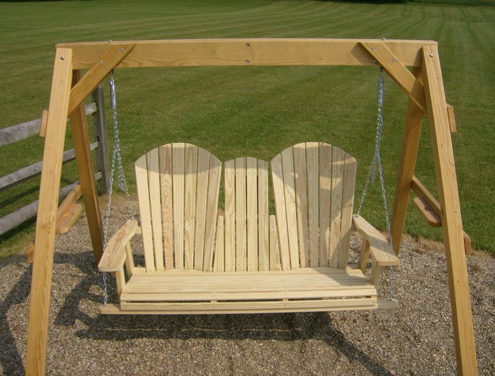 Jakes Amish Furniture 5 Adirondack Swing With Fold