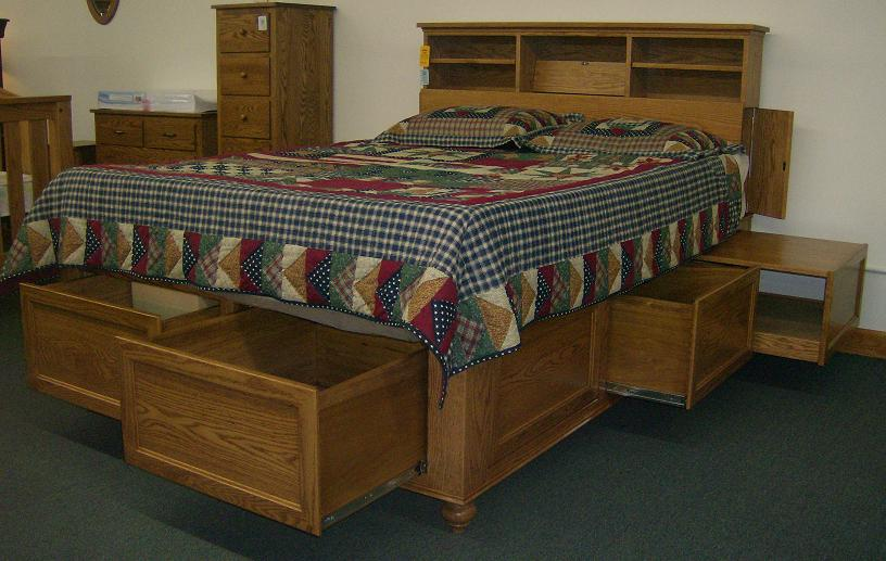 Jakes Amish Furniture Captain Jakes Bed With Unique