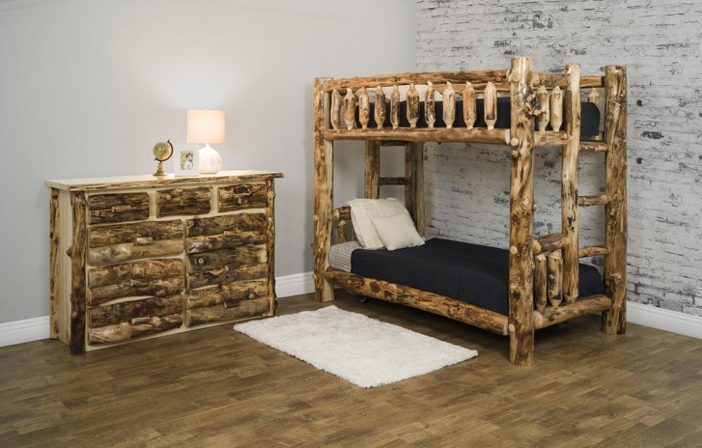 Jakes Amish Furniture Colorado Aspen Bunk Bed Set