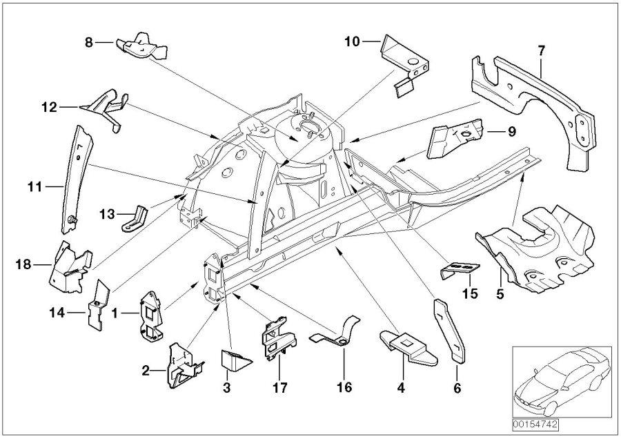 BMW 760Li Cover panel, engine compartment, right. Body