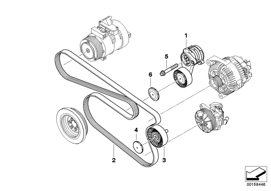 2001 BMW 325ci Serpentine Belt Diagram. BMW. Wiring