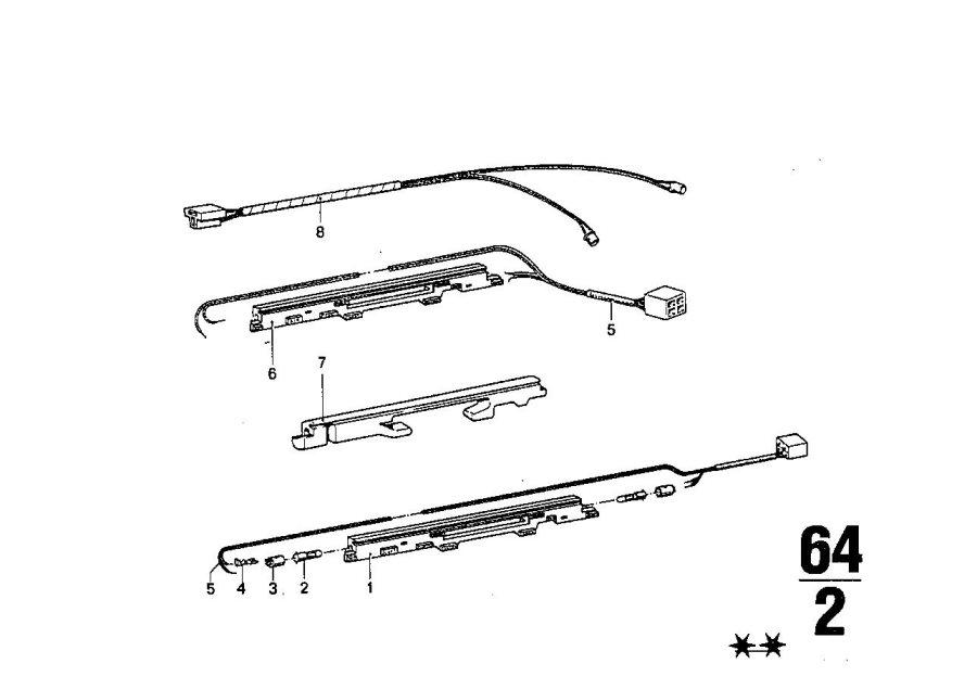 BMW 633CSi Bulb socket. Wiring, COMPONENTS, Heater