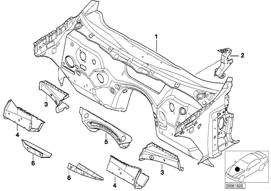 BMW 325Ci Splash wall. Basis. Body, trim, item, front