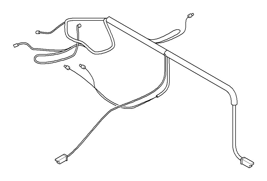 BMW 323i Wiring harness, instrument panel. System