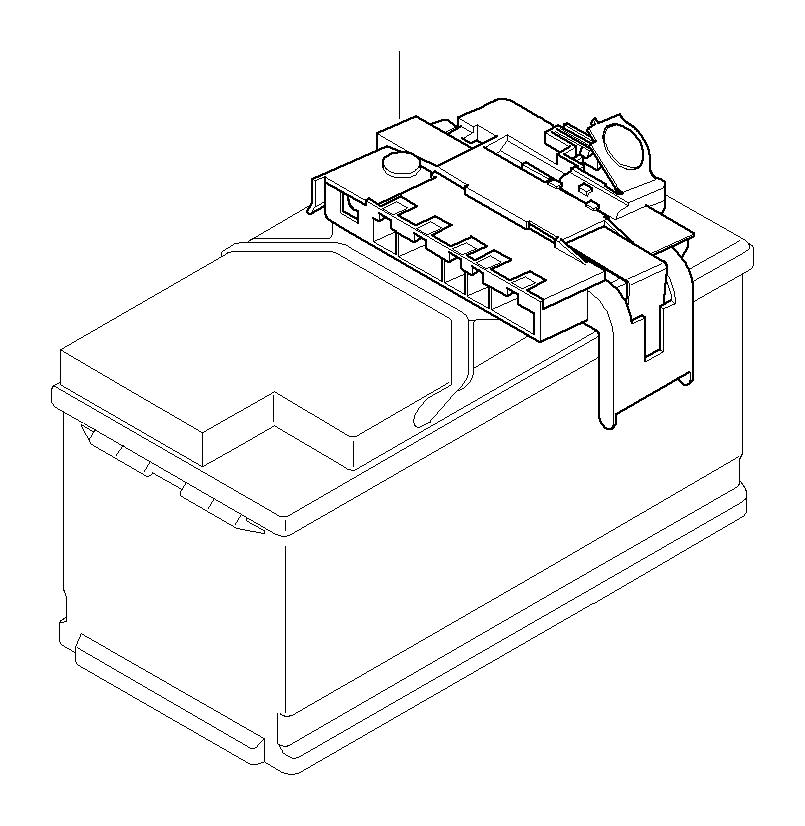 BMW 128i Power distribution box w fuse. System, Battery