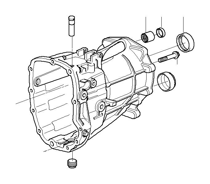 BMW 330i Torx bolt. M8X55. Reverse, Countershaft