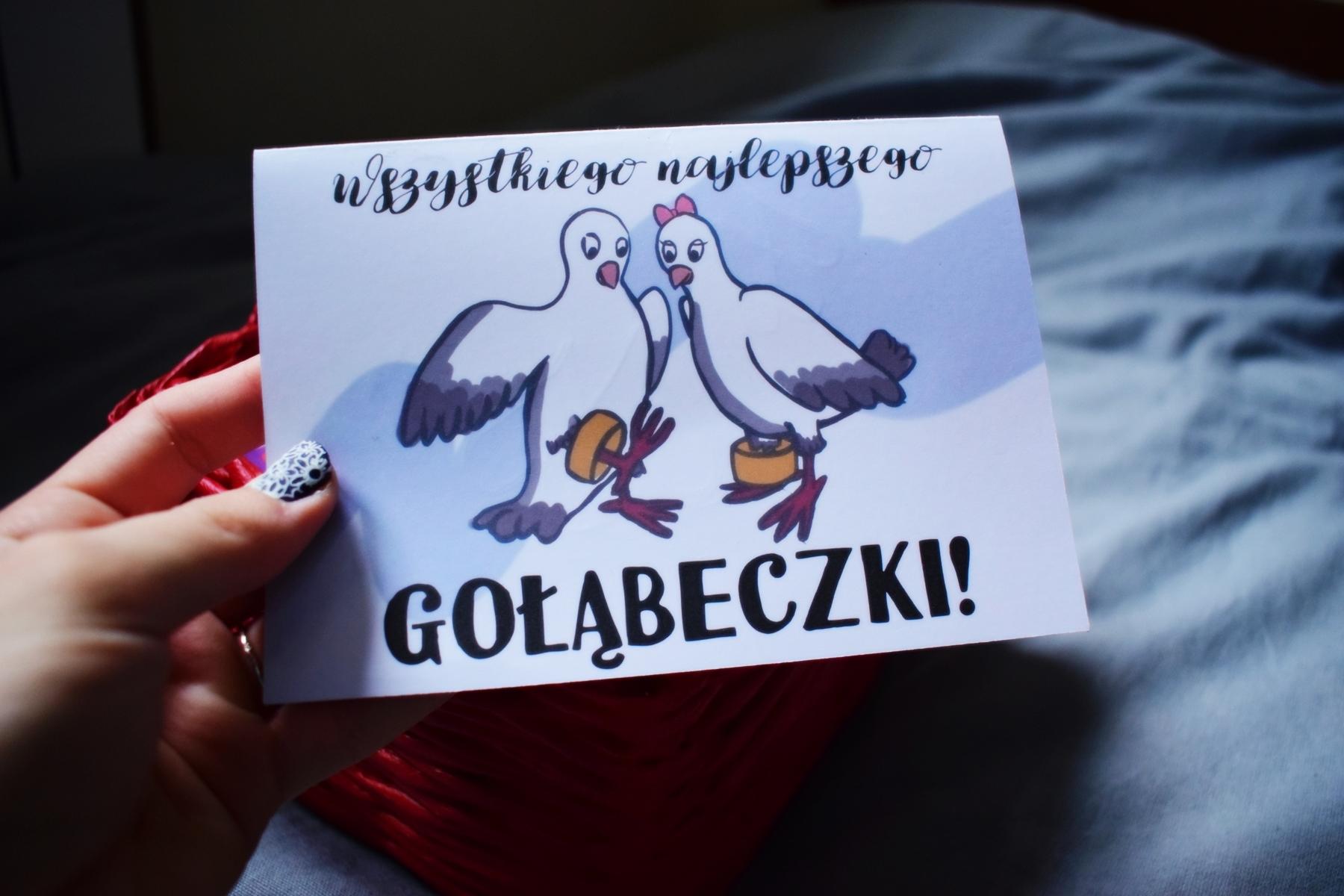 Radość i gołąbki – kolejne personalizowane kartki ślubne