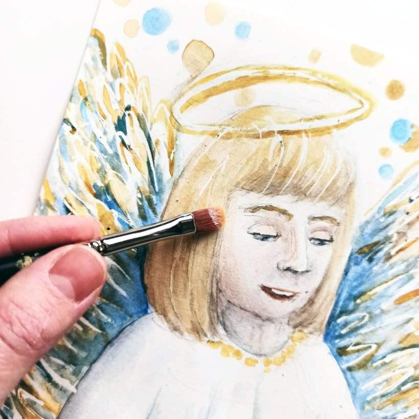 Akwarela – Anioł