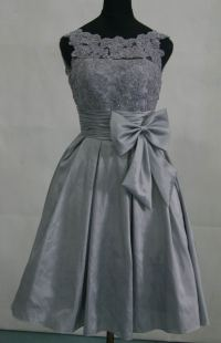 Black And Silver Lace Bridesmaid Dresses