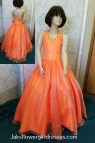 Little Girls Orange Pageant Dresses