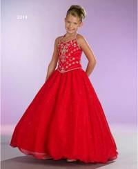 Red little miss pageant dresses.