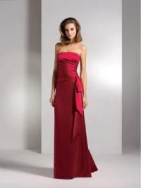 Apple red dresses.
