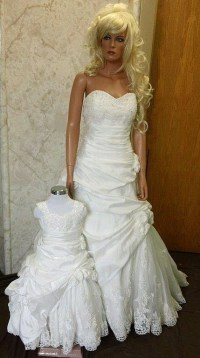 Matching Flower Girl Dresses to Bridal Gowns.