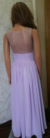 Orchid bridesmaid dresses.