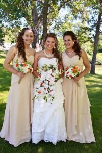 Matching Bridesmaids And Flower Girl Dresses