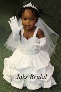 Infant toddler wedding dresses with trains.