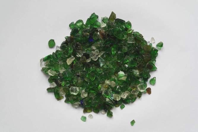 Glass stone zielony grys