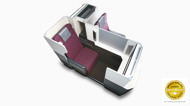 WORLD AIRLINE WINNER SKYTRAX AWARDS 2013 BEST BUSINESS CLASS AIRLINE SEAT