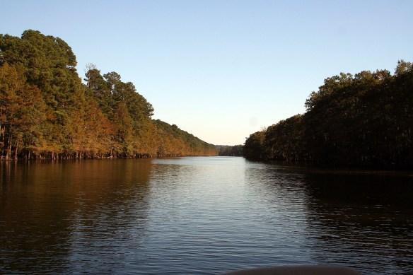 Heading back downstream...