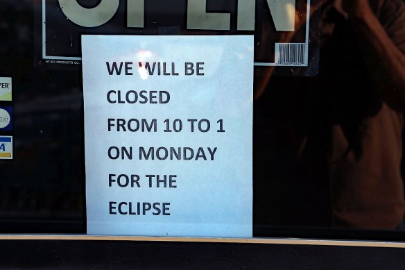 One store owner was not going to miss this Eclipse!