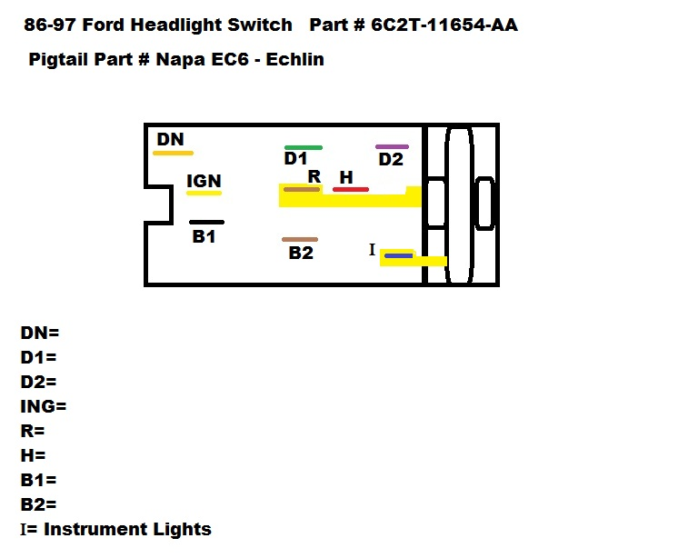 97 f150 headlight switch wiring diagram auto electrical wiring diagram97 f150 headlight switch wiring diagram