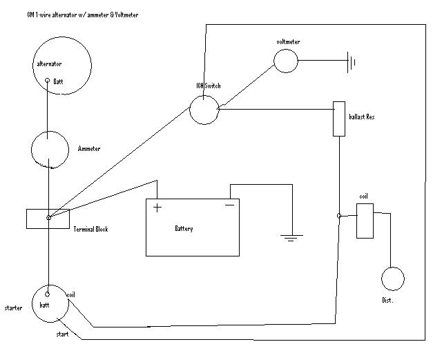 Chevy Alternator Wiring Diagram The H A M B