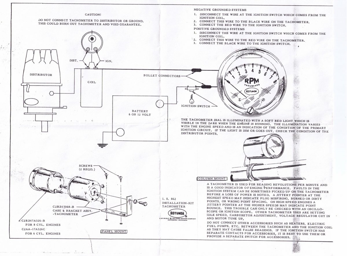 Faria Tach Wiring - Diagram Schematic Ideas on