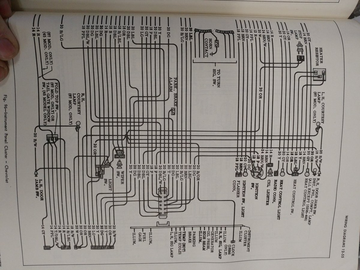 1966 Chevy C20 Wiring Diagram