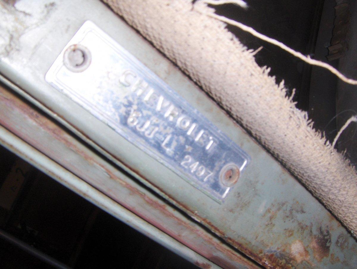 1951 Chevy Vin Tag