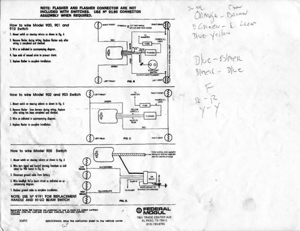 medium resolution of signal stat sigflare wiring diagram 800 84 chevy signal