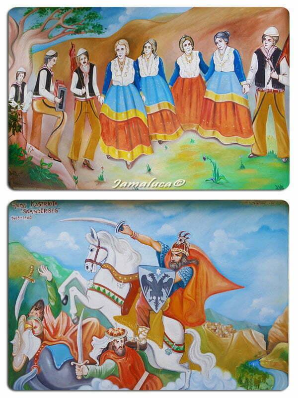 Cosa vedere a Civita - Murale sulle Vallje