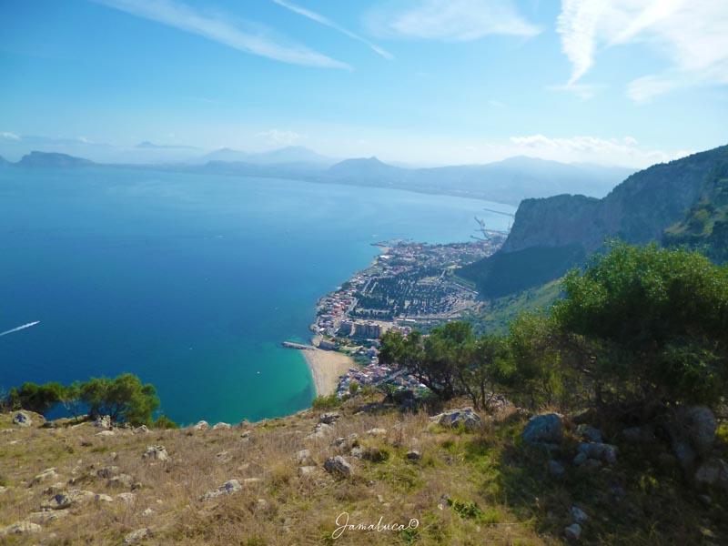 Panorama sul Golfo di Palermo da Monte Pellegrino