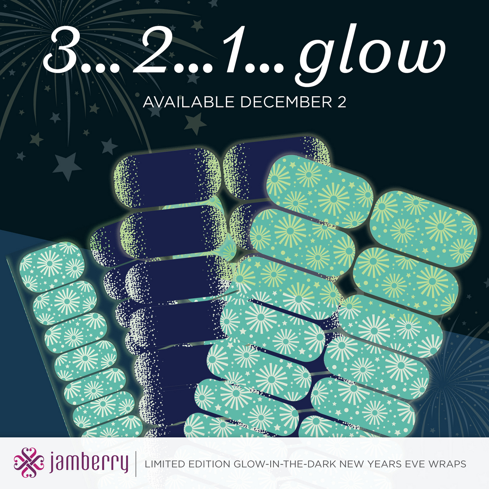 2 New Glow In The Dark Jamberry Wraps