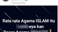screenshot hujatan akun fb