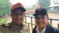 Gubernur DKI Jakarta Anies Baswedan bersama Kepala BBWSCC Bambang Hidayah