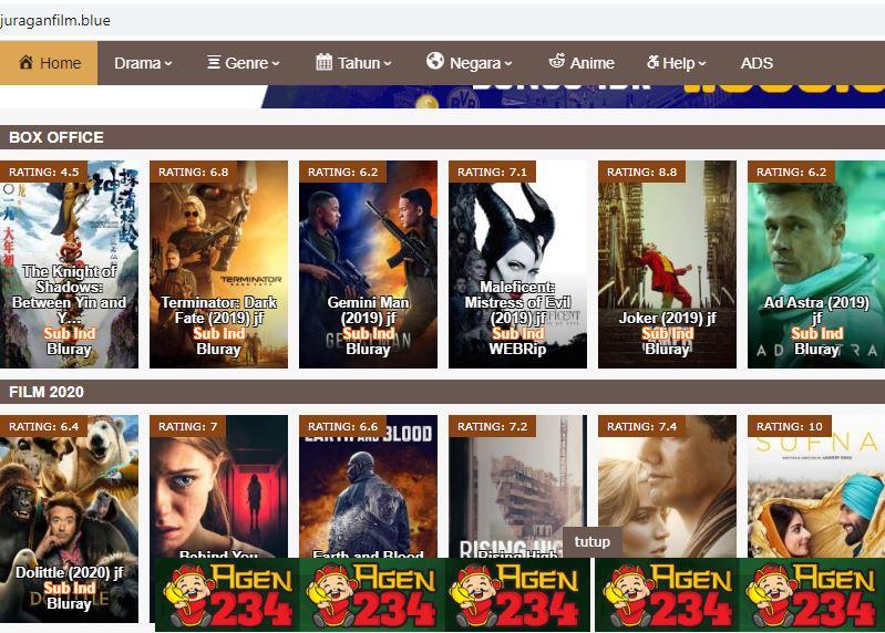 Situs download film terbaru 2020. (Ist)