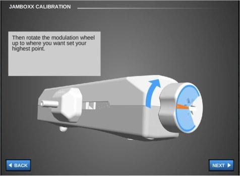 Calibration - Range of Tilt (up/down) - Pro MIDI software solutions