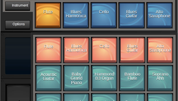 Default Instrument List - MIDI software