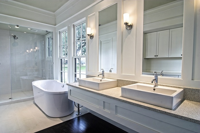 bathroom remodeling company adds design touches