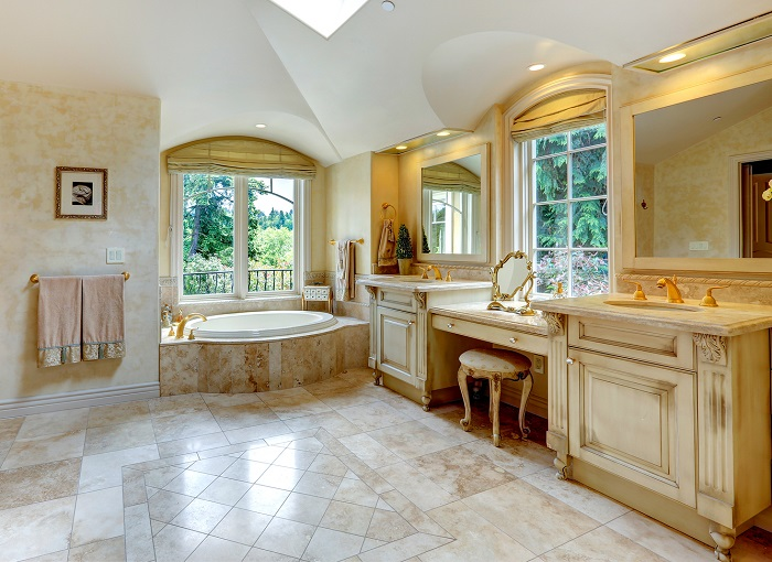 bathroom remodel with furntiture elements