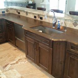 leather granite counter
