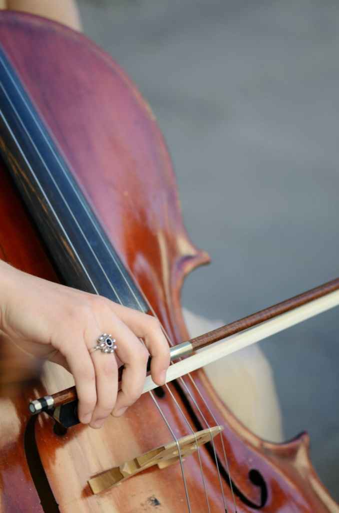 person playing cello