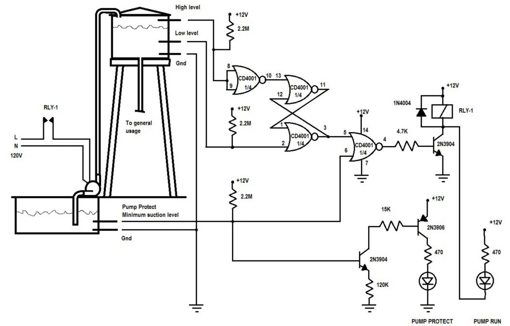 wiring diagram water level controller circuit bmw wiring diagrams