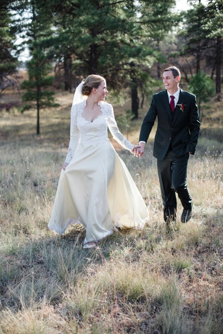 Flagstaff fall wedding catholic ceremony
