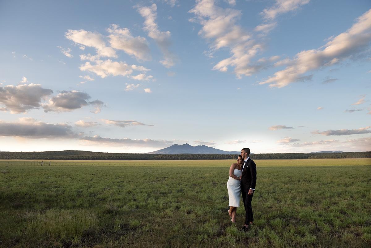 Flagstaff Rogers Lake Wedding sunset