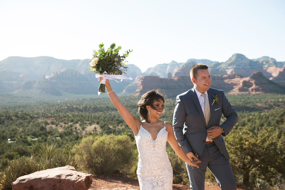 Sedona intimate wedding